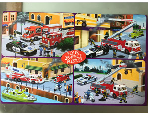 PP0227 Wooden Fire Engine Puzzle
