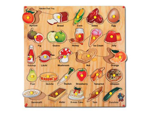 TD0026 Alphabet Food Tray Puzzle