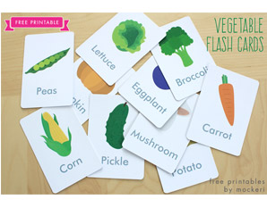 TD0094 Fruit and Vegetables Flash Cards