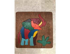 TD0175 Wooden Elephant Puzzle
