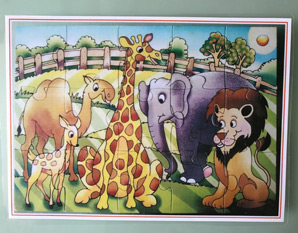 TD0176 Jungle animal puzzle