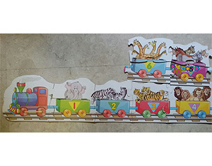 TD0218 Animal counting train puzzle