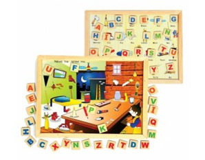 TD0235 Wooden alphabet learning